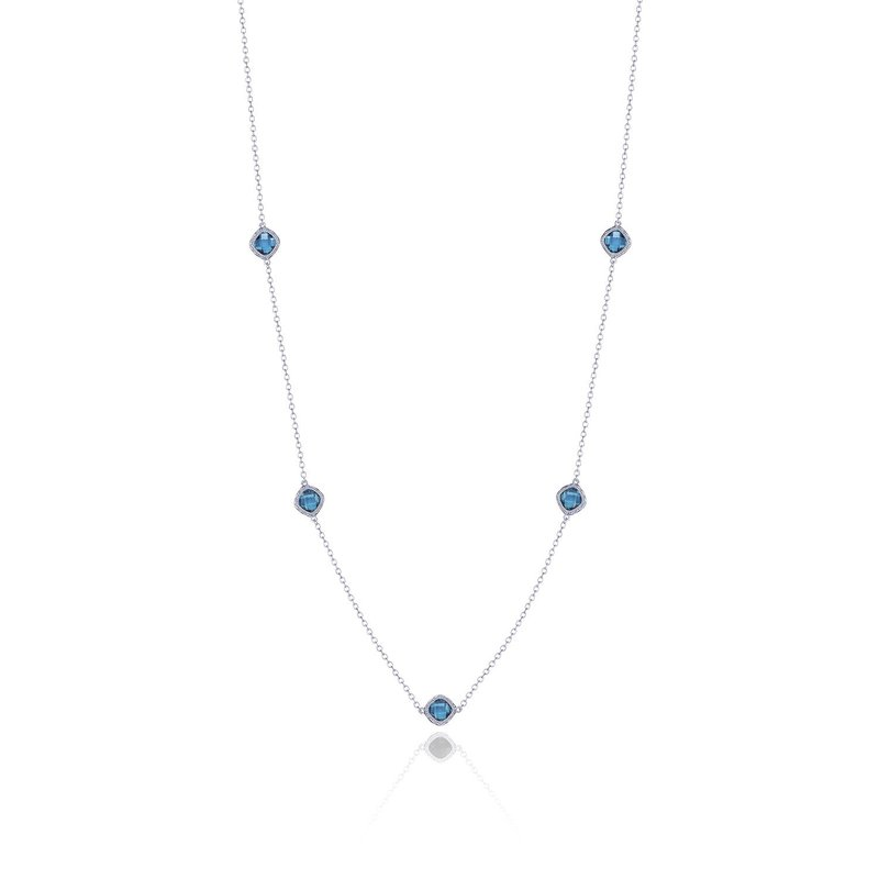 Tacori Fashion 5-station necklace with London Blue Topaz