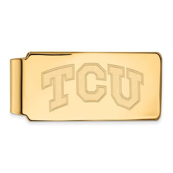 Gold Texas Christian University NCAA Money Clip