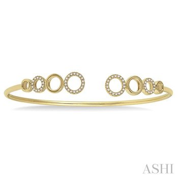diamond circle flexi bangle