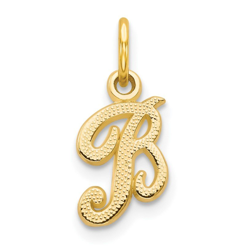 Quality Gold 14KY Script Letter B Initial Charm