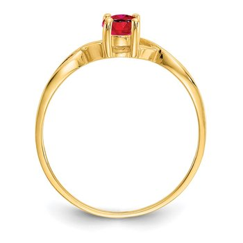 14k Ruby Birthstone Ring