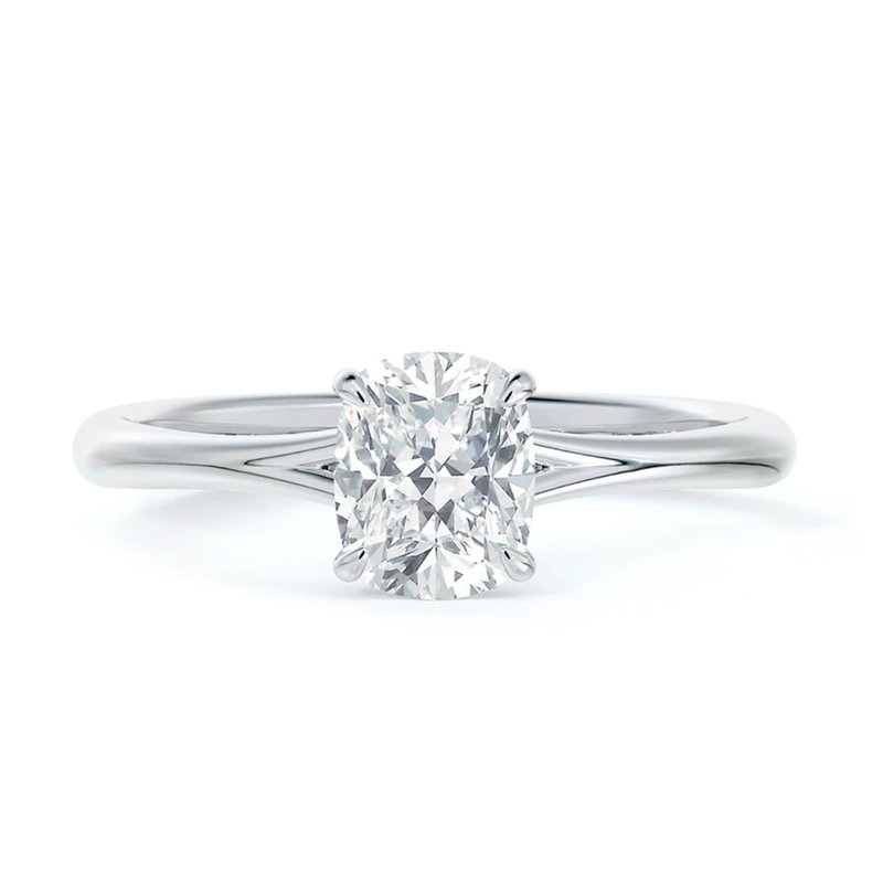 Forevermark Icon Setting Solitaire Cushion Diamond Engagement Ring