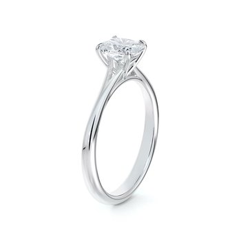 Icon Setting Solitaire Cushion Diamond Engagement Ring