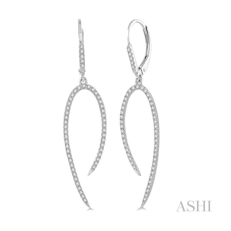 ASHI diamond fashion long earrings