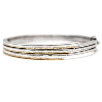 18kt and Sterling Silver Bangle