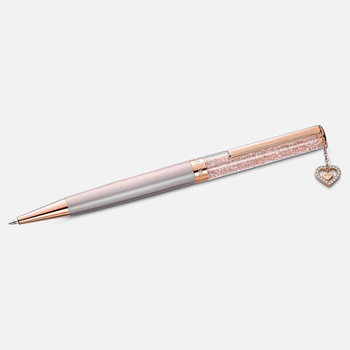 Crystalline Ballpoint Pen, Pink, Rose-gold tone plated