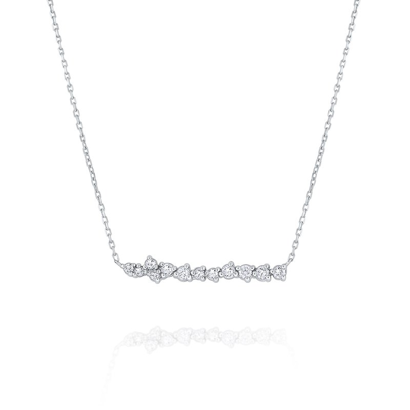 KC Designs 14K Gold and Diamond Bar Necklace