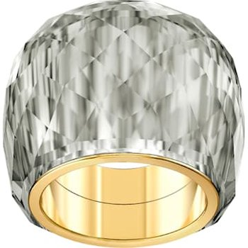 Swarovski Nirvana Ring, Gray, Gold-tone PVD