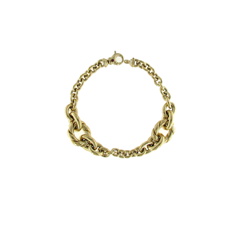 18Kt Yellow Gold Rope Bracelt