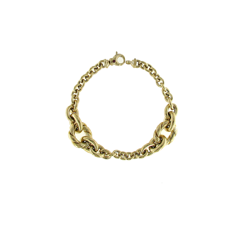 Roberto Coin 18KT YELLOW GOLD ROPE BRACELT