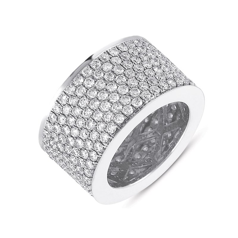 S. Kashi & Sons Bridal White Gold M.pave Eternity