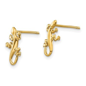14k Polished Gecko Post Earrings