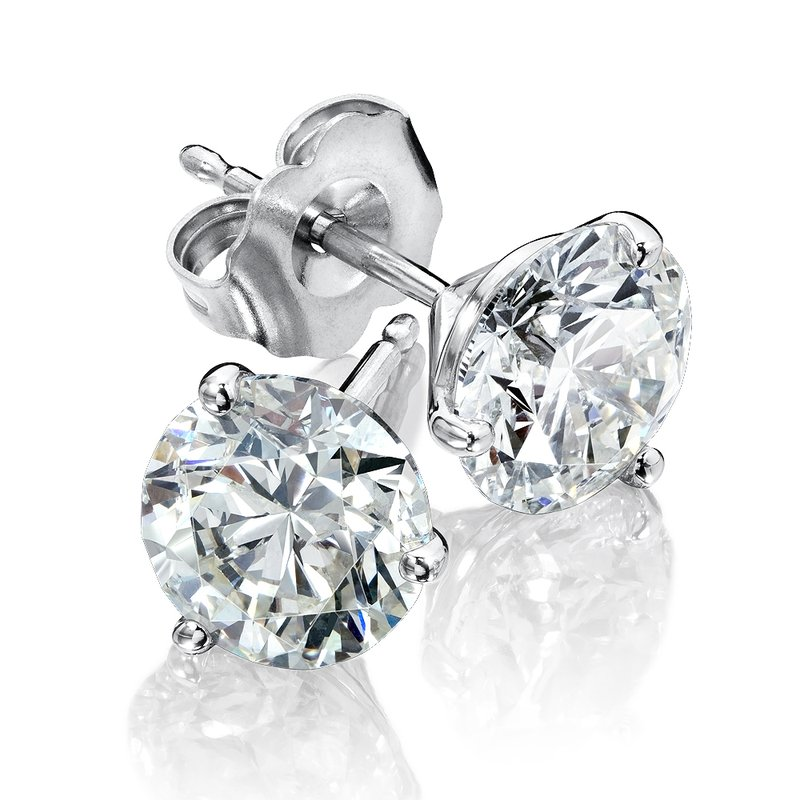 SDC Creations Three Prong Diamond Studs in 14k White Gold (1/5ct. tw.)