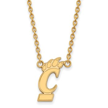 Gold University of Cincinnati NCAA Necklace