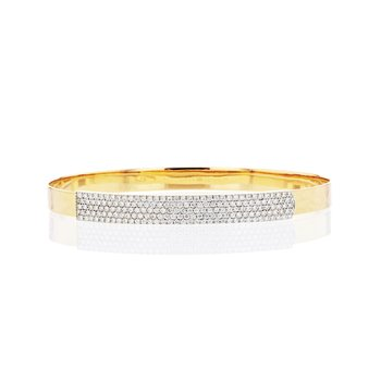 Yellow gold diamond mini Affair long strap bracelet
