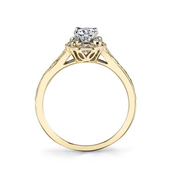 MARS 25850 Diamond Engagement Ring 0.13 Ctw.