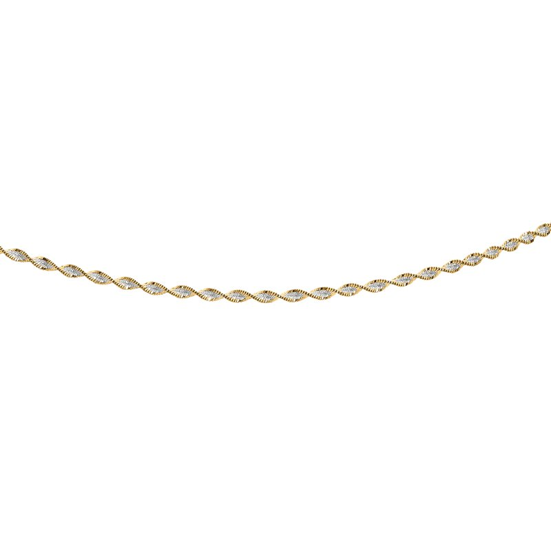 Royal Chain Silver Two-tone Twisted Anklet