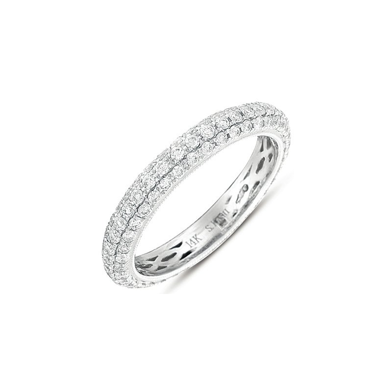 S. Kashi & Sons Bridal Pave Eternity Band