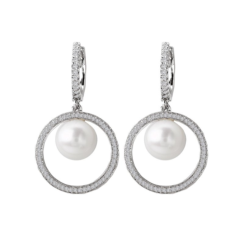 Tesoro Pearl and Diamond Earrings