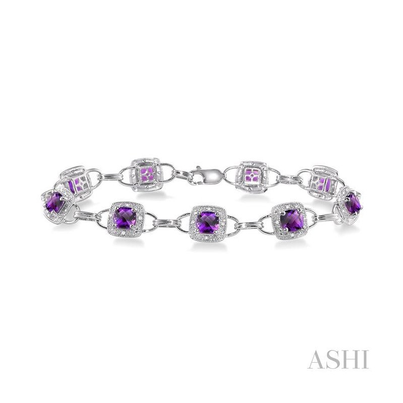 ASHI gemstone & diamond bracelet