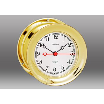 "4 1/2"" Shipstrike Quartz Clock in Brass"