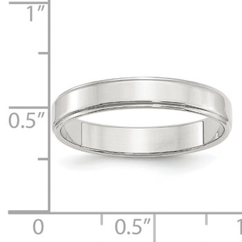 SS 4mm Flat w/ Step Edge Size 10 Band