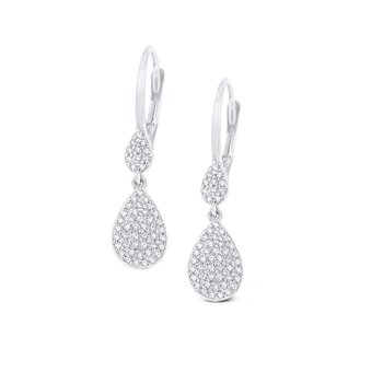 14K Gold and Diamond Teardrop Earrings