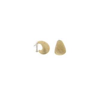 18Kt Gold Tapered Earrings