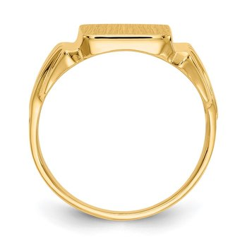 14k 10.5x10.5mm Open Back Mens Signet Ring