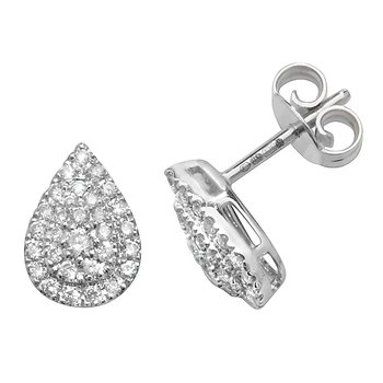 Diamond Studs Pear Cluster