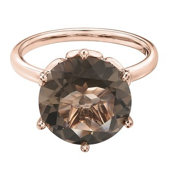 Smokey Quartz Ladies Ring
