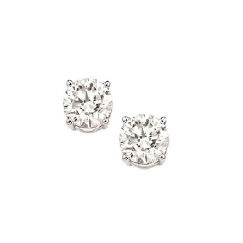 Diamond Stud Earrings in 18K White Gold (1/7 ct. tw.) I1/I2 - G/H