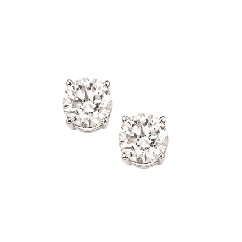 Gems One Diamond Stud Earrings in 18K White Gold (1/7 ct. tw.) I1/I2 - G/H
