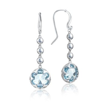 Cascading Drop Earrings featuring Sky Blue Topaz