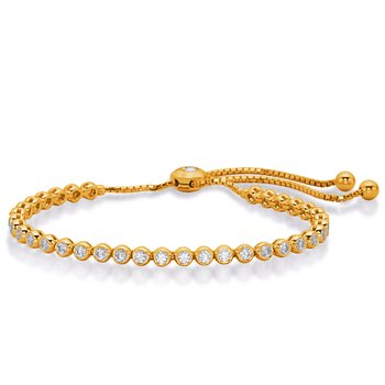 Yellow Gold Bolo Diamond Bracelet