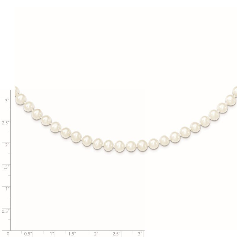 Quality Gold Sterling Silver Rhodium-plated 5-6mm White FWC Pearl Necklace