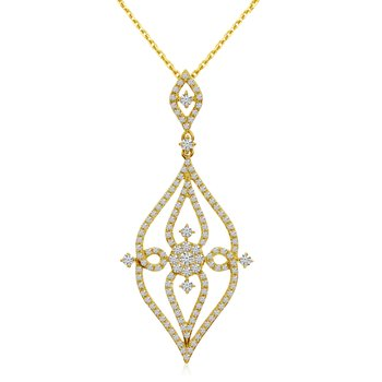 14k Yellow Gold Diamond Fashion Pendant