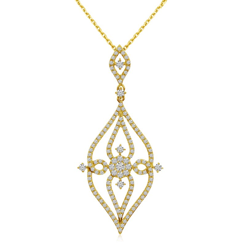 Color Merchants 14k Yellow Gold Diamond Fashion Pendant