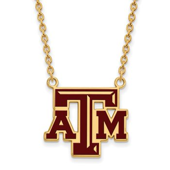 Gold-Plated Sterling Silver Texas A&M University NCAA Necklace