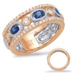 S. Kashi  & Sons Rose & White Sapphire & Diamond Ring