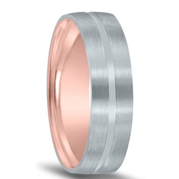 Men's Unique Inside Out Wedding Band - XNT16982