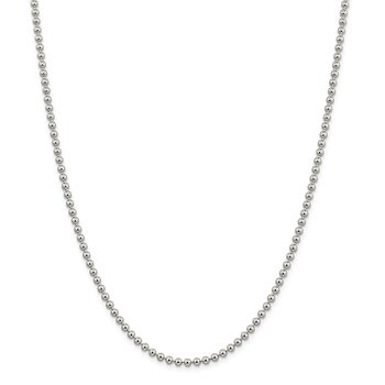 Sterling Silver 3mm Beaded Chain