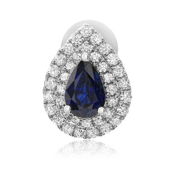 Pear-shaped Sapphire Stud Earrings