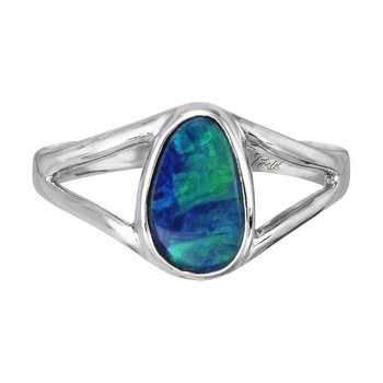 White Gold Opal Ring