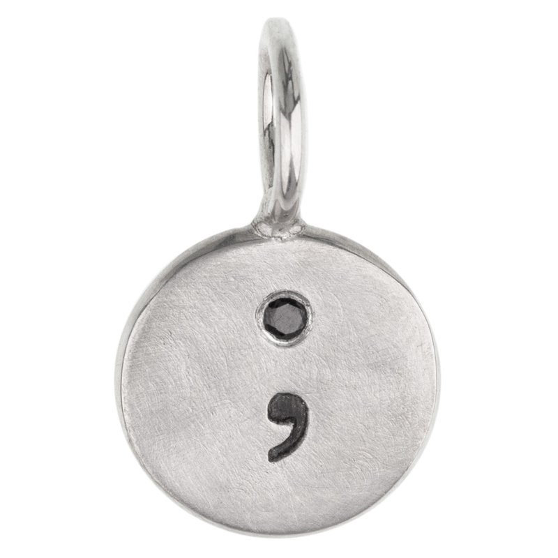 Heather B. Moore Semicolon Round Charm