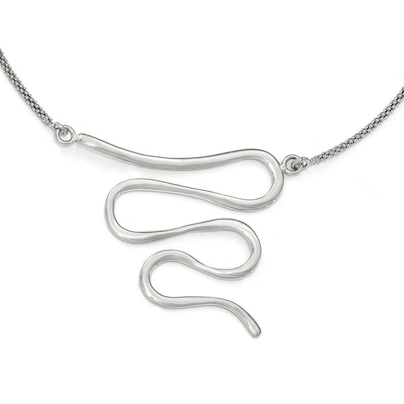 Leslie's Leslie's Sterling Silver Polished w/1.5in ext. Necklace
