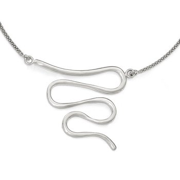Leslie's Sterling Silver Polished w/1.5in ext. Necklace