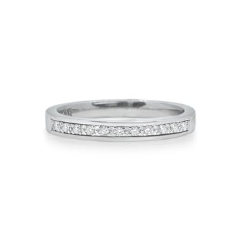 White Gold Stack Ring with Diamonds