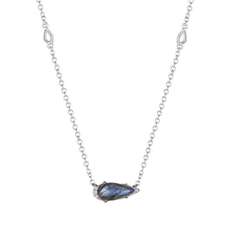 Tacori Fashion Solitaire Pear-Shaped Gem Necklace with Labradorite