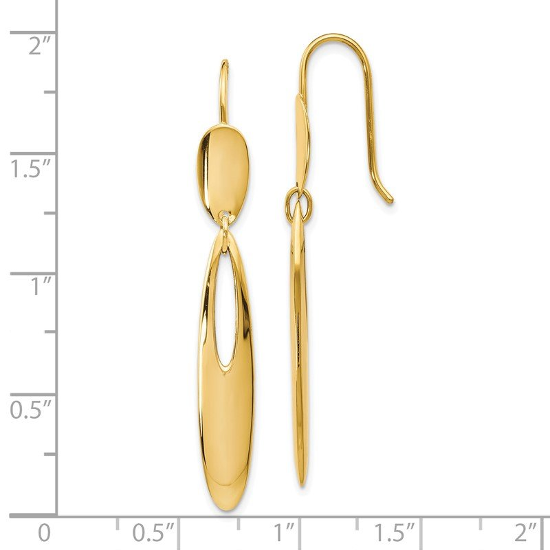 Leslie's Leslie's 14K Polished Shepherd Hook Dangle Earrings